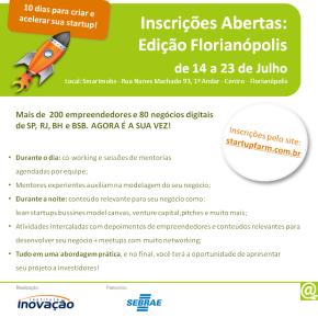 Em Julho: Programa Startup FarmFlorianópolis