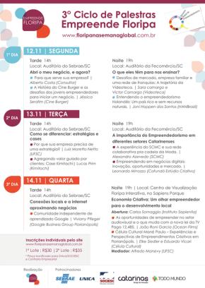 Conheça a agenda do 3° Ciclo de Palestras na SemanaGlobal