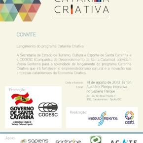 Catarina Criativa: Lançamento de programa sobre economia criativa emSC