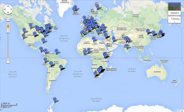 Mapa de Fab Labs