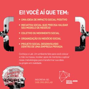 Inscrições abertas: Social Good Lab2016