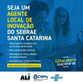 Sebrae/SC seleciona profissionais para projeto de inovação noestado